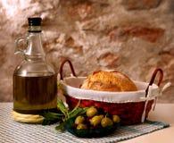 Olivgrüner Aufbau Stockfoto