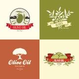 Olivgrüner Aufkleber, Logodesign lizenzfreie abbildung