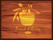 Olivgrüner Aufkleber und Logodesign Lizenzfreies Stockbild