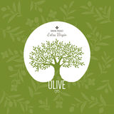 Olivgrüner Aufkleber und Logodesign Lizenzfreie Stockfotos