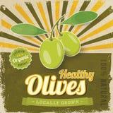 Olivgrünes Aufkleberplakat der Weinlese Stockbild