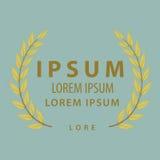 Olivgrünes Blatt für Gestaltungselement des Logos Stockbilder