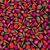 Olivgrünes nahtloses Muster, Vektorillustration, Schwärzerosa Stockbilder