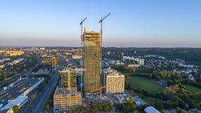 Olivia Biznesowy Centre - budynek, Polska, 07 2017, powietrze Obrazy Royalty Free