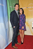 Olivia munn. & Hayes MacArthur - stars of Perfect Couples - at the NBC Universal Winter 2011 Press Tour at the Langham Huntington Hotel, Pasadena. January 13 Stock Image