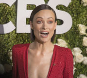 Olivia Wilde. Actress Olivia Wilde arrives at the 71st Annual Tony Awards celebrating achievement and excellence in Broadway dramas, comedies, and musicals Stock Images