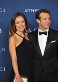 Olivia Wilde & Jason Sudeikis Stock Images