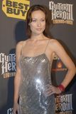Olivia Wilde on the red carpet. Olivia Wilde at the Guitar Hero Legends of Rock event stock photography