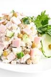 Olivie russe de salade images stock