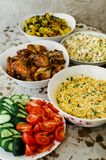 Olivie russe de salade Noël tradition An neuf Macro photos libres de droits