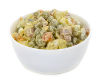 Olivie Salad In Bowl Royalty Free Stock Photos