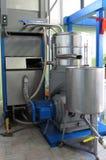 Olivie Schmierölfabrik in Italien Stockbild