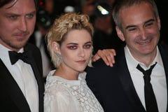 Olivier Assayas, Kristen Stewart, Lars Eidinger. Cannes, France - 17 MAY 2016: Olivier Assayas, Kristen Stewart, Lars Eidinger and attend 'Personal Shopper' Stock Photography