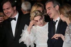 Olivier Assayas, Kristen Stewart, Lars Eidinger. Cannes, France - 17 MAY 2016: Olivier Assayas, Kristen Stewart, Lars Eidinger and attend 'Personal Shopper' Stock Images