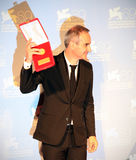 Olivier Assayas. Poses for photographers at 69th Venice Film Festival on September 8, 2012 in Venice, Italy Royalty Free Stock Photos