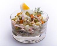 Olivier Russian-salade van het aardappel de nieuwe jaar Stock Foto