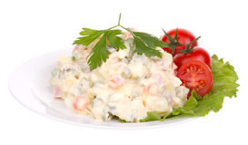 Olivier salad royalty free stock photos