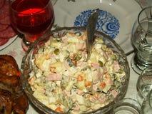 Olivier salad Royalty Free Stock Photo