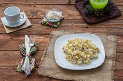 The Olivier salad royalty free stock photos