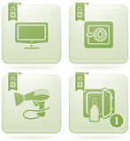 Olivine 2D Squared Icons Set: Hotel Stock Photography