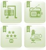 Olivine 2D Squared Icons Set: Hotel Stock Photo