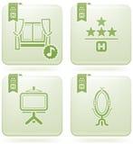 Olivine 2D Squared Icons Set: Hotel Stock Photos