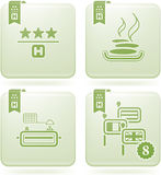 Olivine 2D Squared Icons Set: Hotel Stock Photos