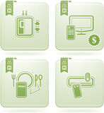 Olivine 2D Squared Icons Set: Hotel Royalty Free Stock Photography