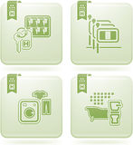 Olivine 2D Squared Icons Set: Hotel Royalty Free Stock Photo