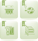 Olivine 2D Squared Icons Set: Hotel Stock Photo
