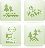 Olivine 2D Squared Set: Camping Stock Photos