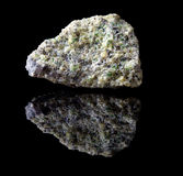 Olivine mineral rock Royalty Free Stock Image