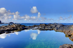 Olivine Pools rocks and ocean.  West Maui, Hawaii Royalty Free Stock Photography