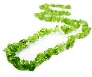 Olivine semiprecious beads necklace Royalty Free Stock Photos
