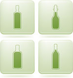 Olivine Square 2D Icons Set: Alcohol bottles Royalty Free Stock Image
