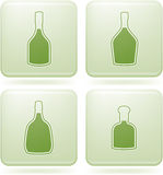 Olivine Square 2D Icons Set: Alcohol bottles Stock Photo