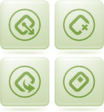 Olivine Square 2D Icons Set: Computer Stuff. Computer peripherals and all kind software file types icons set Stock Images