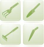 Olivine Square 2D Icons Set: Garden Tools Stock Image