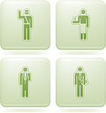 Olivine Square 2D Icons Set: Occupation. Man's occupation  icon set Stock Image
