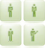 Olivine Square 2D Icons Set: Occupation. Man's occupation  icon set Royalty Free Stock Images