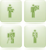 Olivine Square 2D Icons Set: Occupation Royalty Free Stock Photography