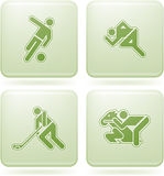 Olivine Square 2D Icons Set: Sport Stock Image