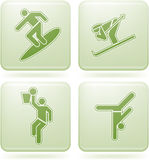 Olivine Square 2D Icons Set: Sport Stock Photos