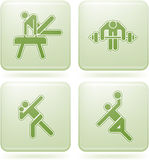 Olivine Square 2D Icons Set: Sport Royalty Free Stock Photo