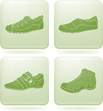 Olivine Square 2D Icons Set: Woman's Shoes Stock Photo