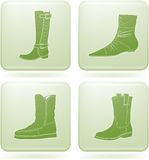 Olivine Square 2D Icons Set: Woman's Shoes Stock Photography