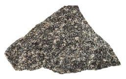 Olivinite stone isolated on white background. Macro shooting of natural mineral rock specimen - olivinite stone isolated on white background from Kovdor region Stock Photo