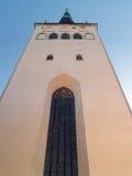 Oliviste Church in Tallinn. Cityscape of Tallinn, capital of Estonia, Baltic Republic Royalty Free Stock Photo