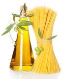 Olivolja och spagetti Royaltyfri Fotografi
