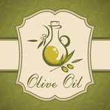 Olivolja. Tappningetikett. Royaltyfria Foton